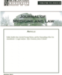 Journal of Medicine and Law: Article